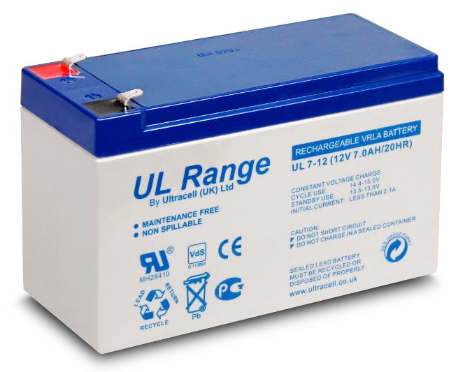 AKUMULATOR ŻELOWY<br /> ULTRACELL LIMITED UK<br /> 12V 7Ah / 7000mAh
