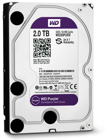 DYSK WD PURPLE 2TB WD20PURX MONITORING