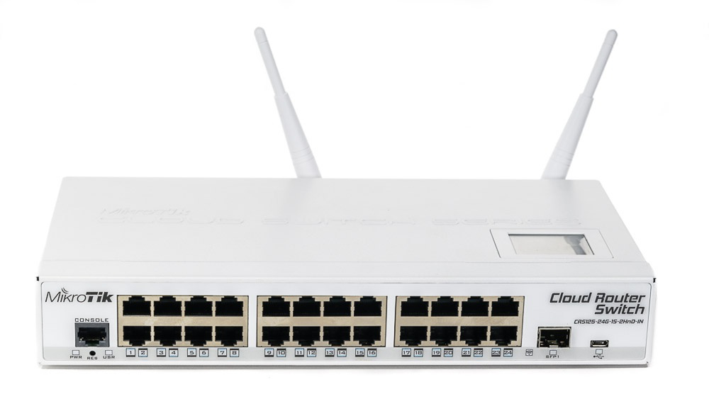 MIKROTIK 24 PORTY ROUTER SWITCH CRS125-24G-1S-2HND-IN 2.4 GHZ
